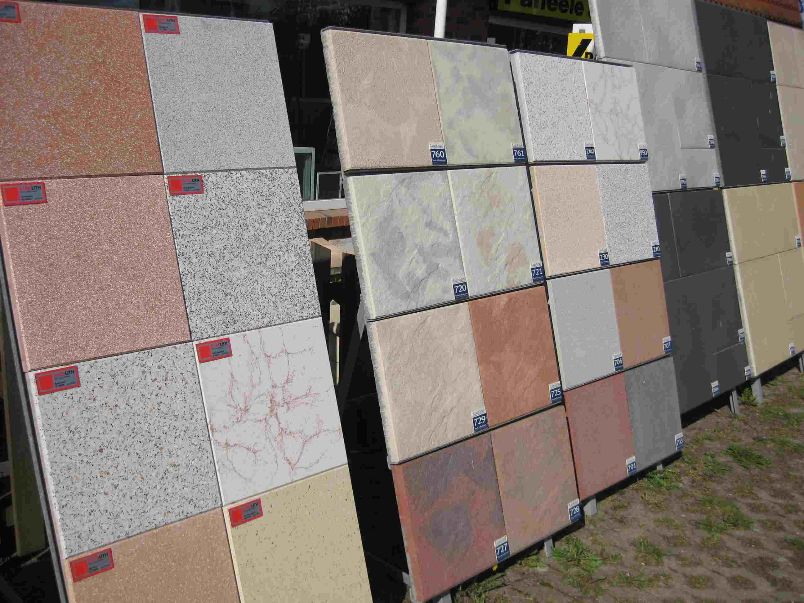 Terrassenplatten - Farbige betonplatten